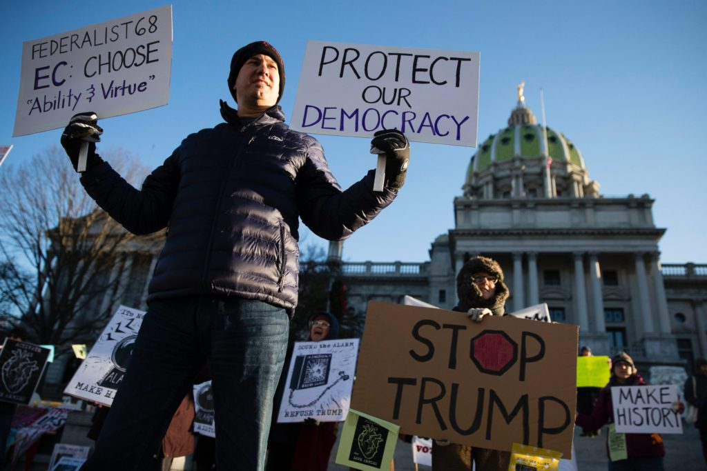 Unprecedented Electoral College Protests in 50 States